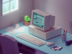 Low poly is a direction of art which is now a trend in game and video design. Check the inspiring collection of isometric low poly illustrations by Mohamed Chanin: characters, rooms, vintage details and much more. Isometric Art, Isometric Design, Blender 3d, 3d Design, Game Design, Interior Design Software, Kenma Kozume, 3d Tutorial, 3d Artwork