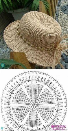 Than Fedora Hat Crochet Pattern Free 15 # knit crochet hat pattern Crochet Summer Hats, Crochet Cap, Crochet Diagram, Crochet Beanie, Crochet Motif, Sombrero A Crochet, Knitting Patterns, Crochet Patterns, Hat Patterns