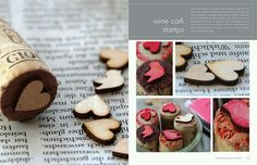 Wine cork stamps