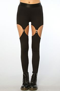 Widow The Cutout Garter Ponte Legging : Karmaloop.com - Global Concrete Culture