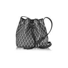 Lancaster Paris Designer Handbags Ikon Small Coated Canvas Bucket Bag (9,155 DOP) ❤ liked on Polyvore featuring bags, handbags, shoulder bags, black, coated canvas handbags, drawstring bucket bags, purse shoulder bag, man pouch bag and handbag pouch