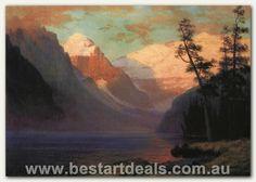 Bierstadt_Albert_Evening_Glow_Lake_Louise