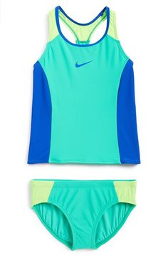 Nike 'Color Fuse' Tankini Two-Piece Swimsuit (Big Girls) available at #Nordstrom