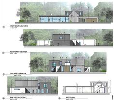 This project involved the extension of an existing house. The existing house was… This project involved the extension of an existing house. The existing house was a dormer style cottage, located within a. Conceptual Model Architecture, Architecture Concept Diagram, Architecture Graphics, Architecture Visualization, Architecture Plan, House Roof Design, House Extension Design, Facade House, Modern House Design