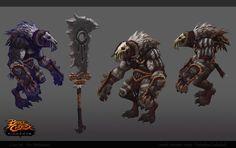 ArtStation - Skeleton Boss and . Battle Chasers, Aliens, V Games, Monster Design, Creature Design, Game Art, Skeleton, Mythology, Boss