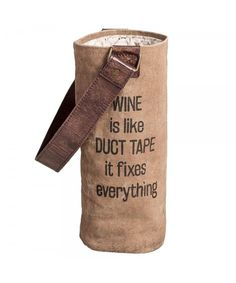 Women's Bags, Top-Handle Bags, Wine Is Like Duct Tape Wine Bag - Source by magicinbag bags Duct Tape Bags, Wine Tote Bag, Bottle Bag, Wine Bottle Crafts, Bottle Holders, Wine Gifts, Gift Bags, Women's Bags, Hobo Bags
