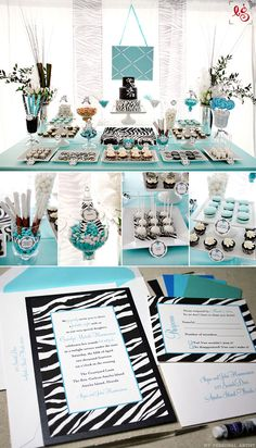 Unique zebra invitations and party ideas at MyPersonalArtist.com