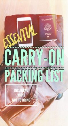 Need to know what to pack in your carry-on luggage? Make plane travel easier with this carry-on packing list. We also discuss the things you CAN'T take on a plane, plus the airline carry-on rules you should know! Travel Blog, Travel Advice, Budget Travel, Travel Tips, Travel Destinations, Travel Hacks, Travel Guides, Travel Articles, Carry On Packing