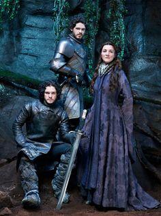 Game of Thrones Season 3 portrait • Rob, Jon, Catelyn