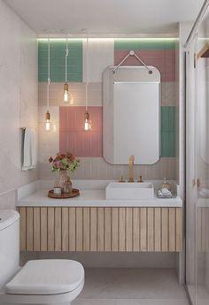 17 Trendy Home Ideas Diy Bathroom Light Fixtures Bathroom Lighting Design, Bathroom Light Fixtures, Bathroom Interior Design, Diy Bathroom, Bathroom Colors, Pastel Bathroom, Bathrooms, Bad Inspiration, Bathroom Inspiration
