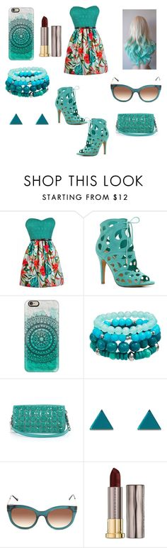 """""""Teal it all Ø-Ø"""" by youtubernerd106 ❤ liked on Polyvore featuring ALDO, Casetify, Kate Spade, Wolf & Moon, Thierry Lasry and Urban Decay"""