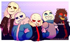 Gaster!Sans and Frisk! One of my first artworks of Undertale ©Undertale ©Toby Fox