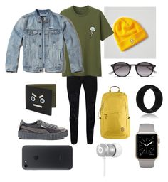 """Kylie"" by vejacomotenpovoa ❤ liked on Polyvore featuring Topman, American Eagle Outfitters, Uniqlo, Bottega Veneta, Hollister Co., Puma, Fendi, Fjällräven, Beats by Dr. Dre and men's fashion"