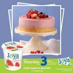 Балев Био Маркет предлага вкусна рецепта за Плодова торта с Натурален Соев Крем Ягода, марка Joya
