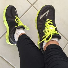 Black green Brooks running shoes. Black and yellow Brooks running shoes. So comfortable and gently worn! Make an offer! Brooks Shoes Athletic Shoes