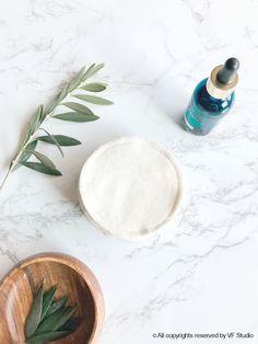 """Organic Cotton Facial Rounds Zero Waste Makeup Remover Sensitive Skin Facial Cloth 2 Ply 4"""" diameter No Bleach No dye"""