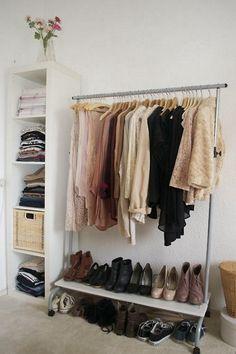 armários-improvisados para closet pequeno