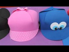 Gorro y antifaz Foam/ Goma Eva. PATRONES+PASO A PASO. 3d Paper Crafts, Foam Crafts, Diy And Crafts, Crafts For Kids, Letter E Craft, Elephant Costumes, Minnie Mouse 1st Birthday, Muppet Babies, Childrens Party