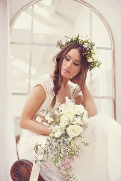 kent england barn wedding inspiration, @Lee Hauser the top of her hair