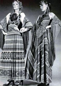 Lanvin 1970's prints inspired by tribal nomadic patterns