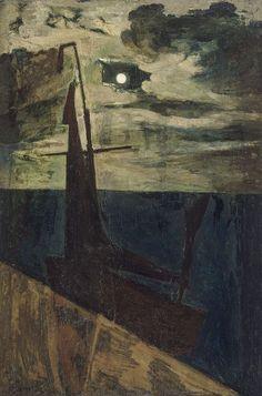 Constant Permeke (Belgian, 1886-1952) - Moonlight (Clair de lune), 1913