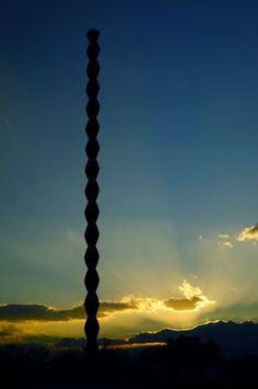 The Endless Column by Constantin Brancusi, Targu Jiu, Romania