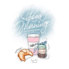 Good Morning Coffee, Good Morning Good Night, Good Morning Images, Good Morning Quotes, Illustration Mignonne, Tuesday Quotes, Wednesday Motivation, Fashion Wall Art, Good Morning Greetings