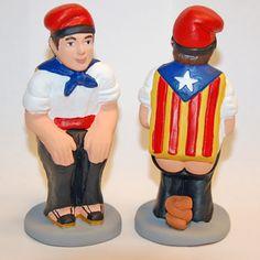Caganer Independentista. El Caganer és una figura ineludible dels pessebres catalans.