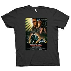 Men's Blade Runner  Sci Fi  Movie  Poster  T-Shirt (Charcoal Grey)