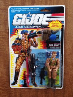 GI Joe Red Star MOC Vintage 90s Action Figure by MikesVintage, $28.00