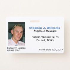 Custom Photo Employee Badge - photo gifts cyo photos personalize