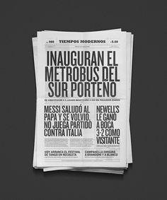 Tiempos Modernos on Editorial Design Served