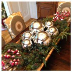 Christmas Dough Bowl centerpiece