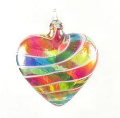 Rainbow Heart Ornament