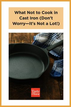 The list of what not to cook in cast iron is much, much shorter than the things you should—we promise. Bubble Bread, Halibut Recipes, Dutch Oven Cooking, Chicken Cacciatore, Veggie Pasta, Pineapple Upside Down, Cast Iron Skillet, Taste Of Home, Deep Dish