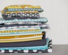 grey, yellow, and aqua = love. by claudette