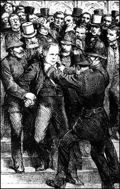 The first athiest MP; Charles Bradlaugh - MP for Northampton. In 1877 he was arrested and prosecuted for distributing pamphlets to educate working class women about birth control called The Private Companion of Young Married Couples. Atheist, feminist, unionist, Cannibal.  I love this guy!