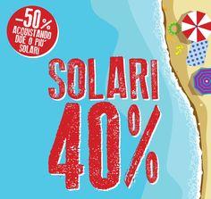 Tutti i solari al 40%. Meno 50% acquistando due o più solari http://www.easyfarma.it/estate-2014-nuove-collezioni-solari