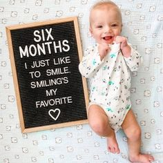 Everyday Baby Necessities by 6 Months Old - DIY Darlin' 6 Month Baby Picture Ideas Boy, 3 Month Old Baby Pictures, Milestone Pictures, Monthly Baby Photos, Baby Milestone Cards, Baby Boy Pictures, Monthly Pictures, 3 Month Baby Milestones, Half Birthday Baby