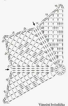 Crochet and arts: crochet Snowflakes Crochet Poppy Pattern, Crochet Star Patterns, Crochet Snowflake Pattern, Knitting Paterns, Crochet Stars, Crochet Snowflakes, Crochet Diagram, Knitting Charts, Thread Crochet