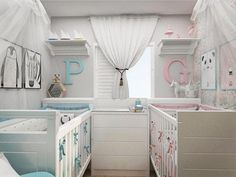 Exceptional information are readily available on our internet site. Have a look and you wil. Small Twin Nursery, Twin Baby Rooms, Nursery Twins, Baby Nursery Decor, Baby Bedroom, Baby Cribs, Baby Decor, Nursery Room, Boy Girl Twins