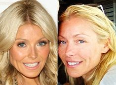 Kelly Ripa from Stars Without Makeup Kelly Ripa Hair, Miss Kelly, Celebs Without Makeup, Kathy Griffin, Celebrity Faces, Soap Stars, Dewy Skin, Top Celebrities, Reality Tv
