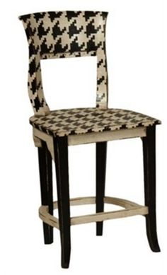 houndstooth bar stool--Alabama fans would love these !