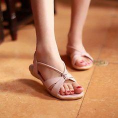 PU Flat Sandals