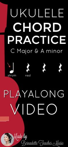 Chord Playalong Practice C and Am - Bernadette Teaches Music Singing Lessons, Singing Tips, Music Lessons, Guitar Lessons, Learn Singing, Ukulele Songs, Ukulele Chords, Middle School Music, Ukelele