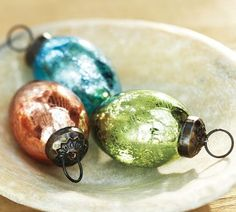 Mercury glass egg ornaments... LOVE these!
