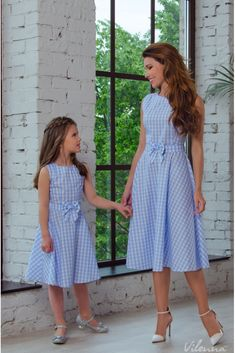 Сукня для мами легка літня з поясом-бантом • колір  блакитний у клітинку • f3a7d2a68a600