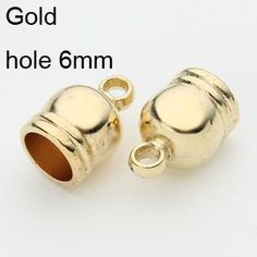 Hole Size 6 7 8 9 Gold Rhodium Bronze Gunmetal Plated End Caps Crimp Beads  Covers for DIY Jewelry Findings d68544276066