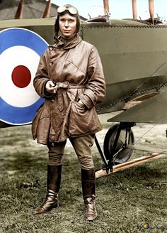 Lt. Stephen Bonsal Jr. standing by a British Avro 504K during an Allied aircraft display at the Polo Grounds in Washington, D.C. (between the Lincoln and Washington Memorials), December 1917.