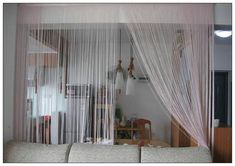 Furniture: Curtains Living Room Divider, make privacy screens . Ikea Room Divider, Living Room Divider, Room Divider Curtain, Room Dividers, Curtain Room, Modern Home Office Desk, Modern Room, Luxury Modern Homes, In China